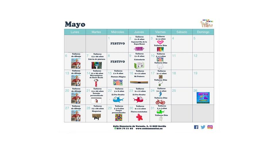 Calendario Mayo2019.Calendario Mayo 2019 Con Las Manitas